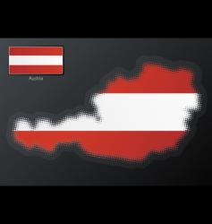 Austria modern halftone map vector image