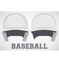 Baseball Helmets sketch vector