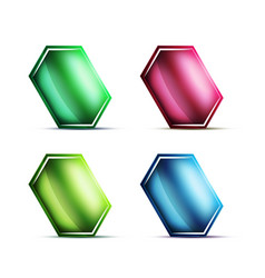 blank glass buttons labels or tags vector image