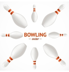 Bowling Pins Set Card or Poster vector image