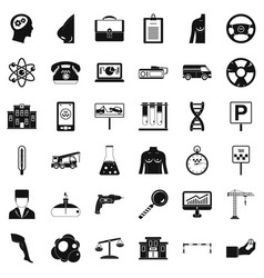 business day icons set simple style vector image