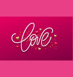 calligraphic lettering love happy valentines day vector image