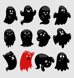Cartoon spooky ghost character illsutartion vector