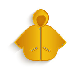cartoon yellow raincoat isolated vector image