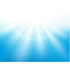 center sunburst light effect on nice blue sky vector image
