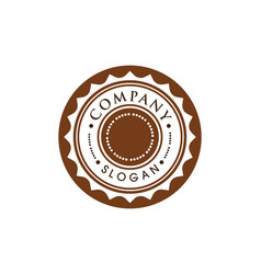 circle emblem design vector image