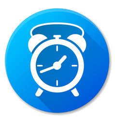clock blue circle icon design vector image