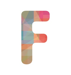 Colorful alphabet F vector image
