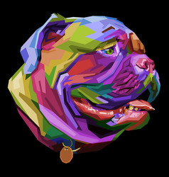 colorful english bulldog on pop art style vector image