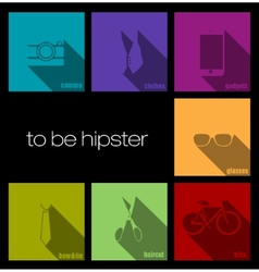 Colorful icons hipster vector