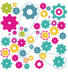 colors gears symbols icon vector image