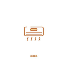 Cool concept 2 colored icon simple line element vector