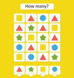 counting game for preschool childrenthe study of vector image