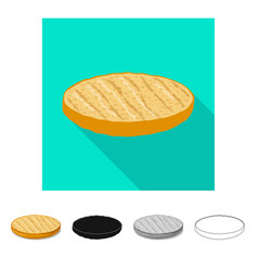 Design of burger and sandwich icon vector