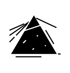 Difraction black icon concept vector