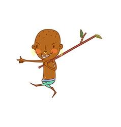 ethnic boy walking vector image