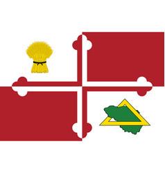 Flag howard county in maryland usa vector