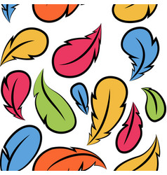 Flying feathers seamless pattern design vector