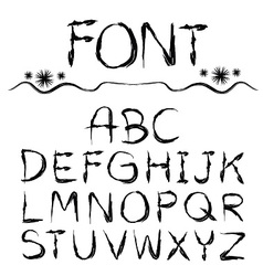 Font hand drawn vector