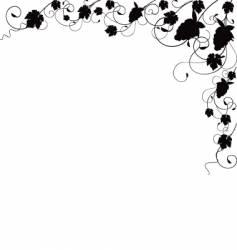Grapevine silhouette border vector