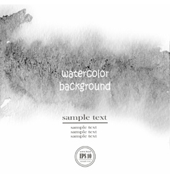 Gray watercolor background wet vector