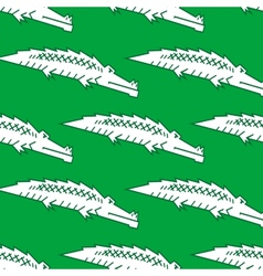 Green crocodile seamless pattern vector