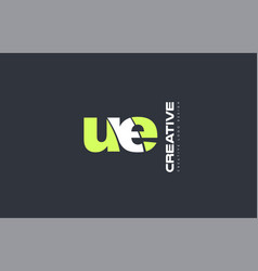 green letter eu u e combination logo icon company vector image