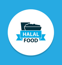 halal icon colored symbol premium quality vector image