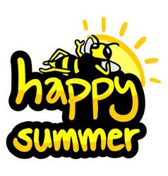 Happy summer symbol vector image