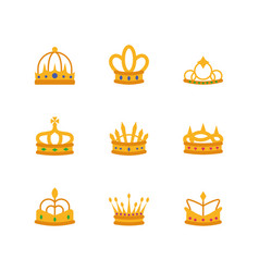 Isolated crowns icon set design vector