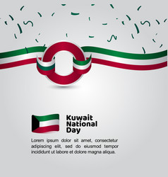 Kuwait national day flag template design vector
