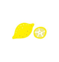 lemon flat isolated background vector image