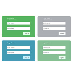 log in form for web site vector image