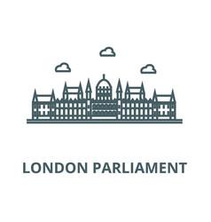London parliament line icon linear concept vector