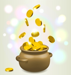 Lucky bowl of gold vector image