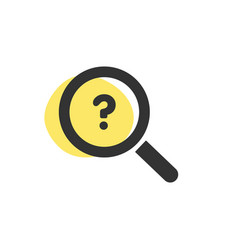 Magnifying glass looking for a shop isolated web vector