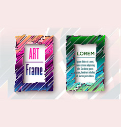 modern art frames with abstract elements vector image
