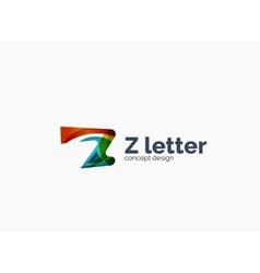 Modern company Z letter logo vector image