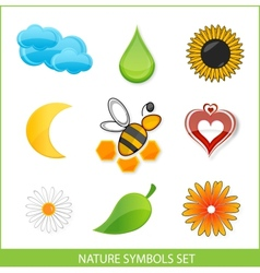 Nature eco symbols vector image