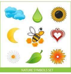 Nature eco symbols vector image vector image