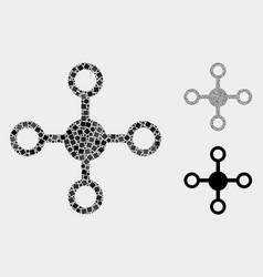 Node icon mosaics squares and circles vector