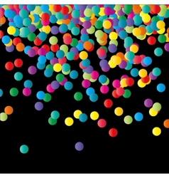 Paper Confetti Color Background vector image
