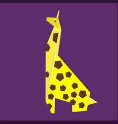 paper yellow giraffe vector image