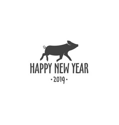 pig year 2018 vector image