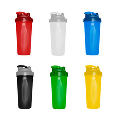 plastic shaker in on white background vector image