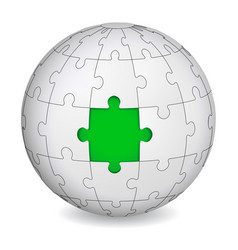 puzzle land with green the middle vector image
