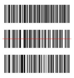 realistic barcode set icon vector image