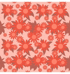 Red Flowers Seamless vector image