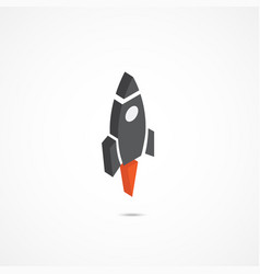 rocket isometric icon 3d vector image