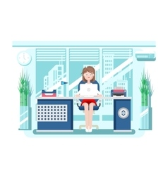 Secretary in office vector